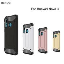 BSNOVT Huawei Nova 4 Case Cover Anti-knock Soft Silicone + Hard Plastic For Funda Coque