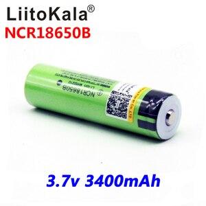 Image 3 - Литий ионный перезаряжаемый аккумулятор для фонарика liitokala 18650 3400 мАч, новый Оригинальный NCR18650B 3000 3400