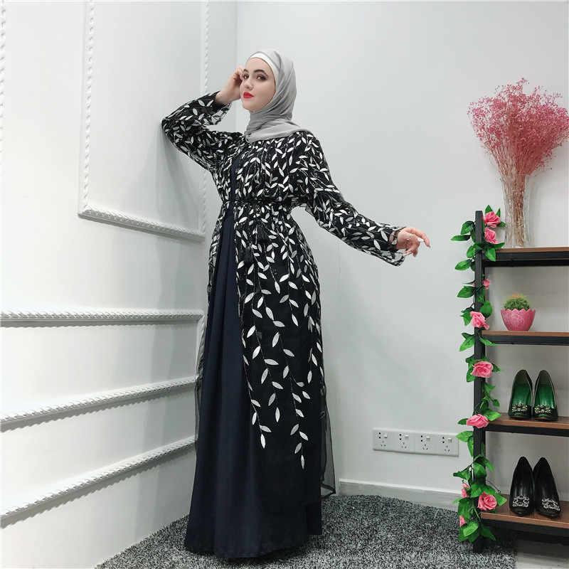 Рамадан абайя халат Дубай, Турция мусульманское кимоно кардиган мусульманский хиджаб платье восточный женский халат для женщин Jilbab Caftan Elbise одежда