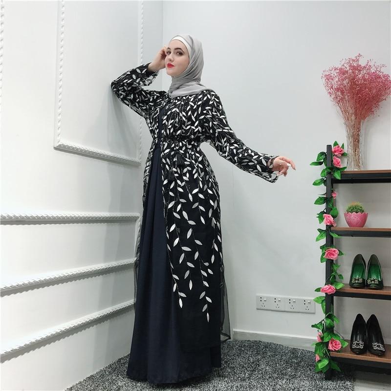 Ramadan Abaya Robe Dubai Turkey Islam Kimono Cardigan Hijab Muslim Dress Kaftan Abayas For Women Jilbab Caftan Elbise Clothing