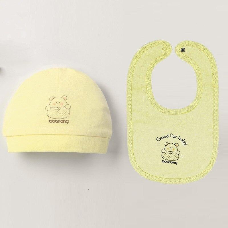 Осенне-зимние детские шапки и варежки для девочек и мальчиков, кепки, носки, удобные детские шапки и перчатки, хлопковые аксессуары для новорожденных детей 0-3 лет - Цвет: Сиренево-синего цвета