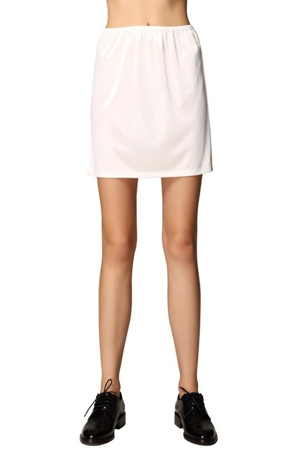 Silk Woman Short Petticoat Underskirt Half Slips Under Dress Mini Skirt Wedding Bridal Petticoat Wedding Accessories(China)