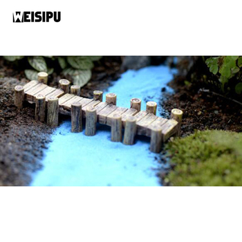 WEISIPU 1pcs Water Corridor Harbour Bridge Miniature Fairy Garden Home Houses Decoration Mini Craft Micro Party DIY Decoration image