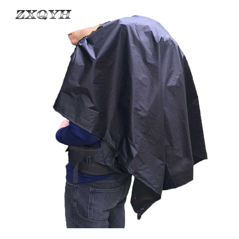 ZXQYH Outdoor piesze wycieczki spodnie przeciwdeszczowe wodoodporna spódnica przeciwdeszczowa Camping mata podłogowa dywan górski brudny fartuch Poncho torba Case lekki