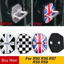 2 шт./компл. анти ржавчина Автомобильный Дверной замок Защитная Пряжка Обложка для BMW Mini Cooper One+ S R55 R56 R57 R58 R59 автомобиля Средства для укладки волос