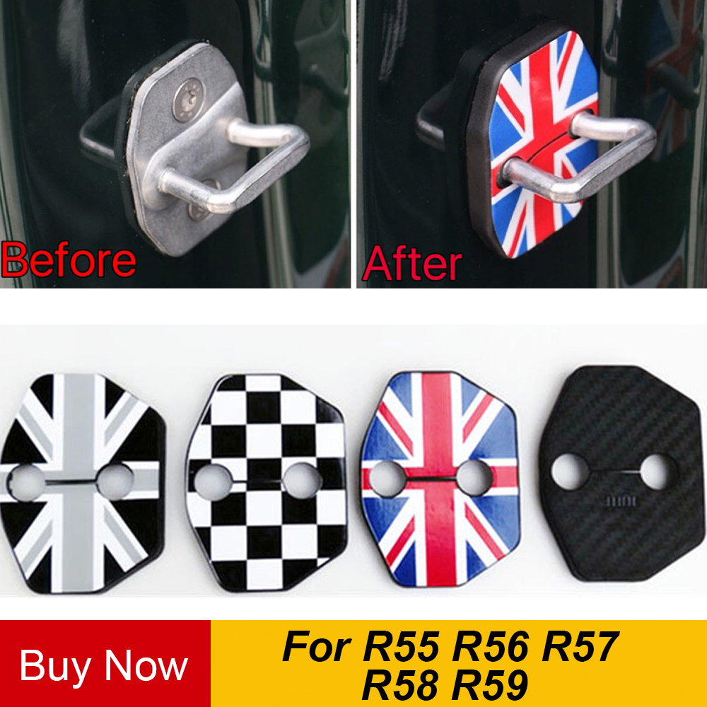 2pcs/set Anti Rust Car Door Lock Protective Buckle Cover For BMW Mini Cooper One+ S R55 R56 R57 R58 R59 Car Styling Accessories