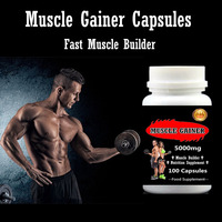Muscle Gainer Capsules 500mg X 100pcs Fast Muscle Builder Nutrition Supplement 100 Safy Free Shipping