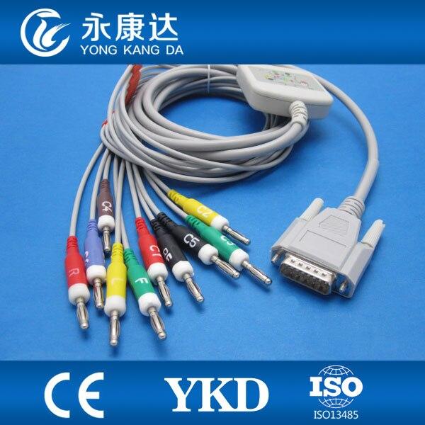 Edan SE-601A Express 10 lead EKG cable, IEC,Banana 4.0 with 10K resistor велотренажер sport elite se 601
