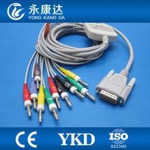 Edan SE-601A Express 10 lead EKG cable, IEC,Banana 4.0 with 10K resistor