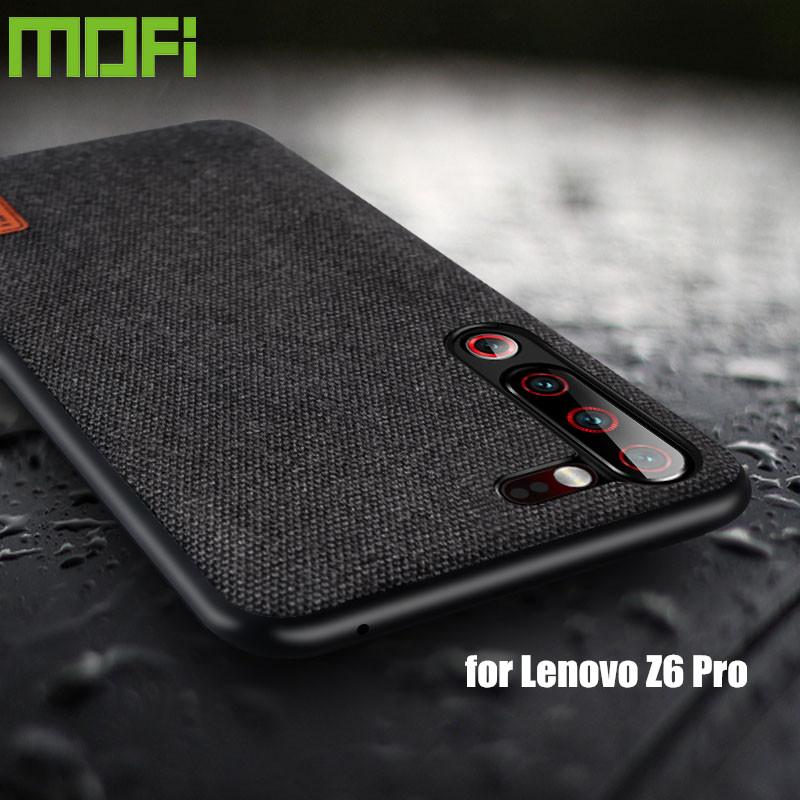 For Lenovo Z6 Pro Case Lenovo Z6 Lite Case Shockproof Silicone Fabric Cloth Back Cover Capas MOFi Original Global Protect Cases