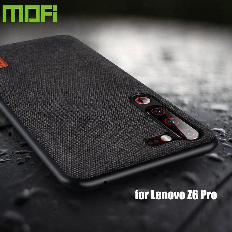 Para lenovo z6 pro caso capa à prova de choque silicone tecido pano capa traseira capas mofi original global z6 lite proteger caso
