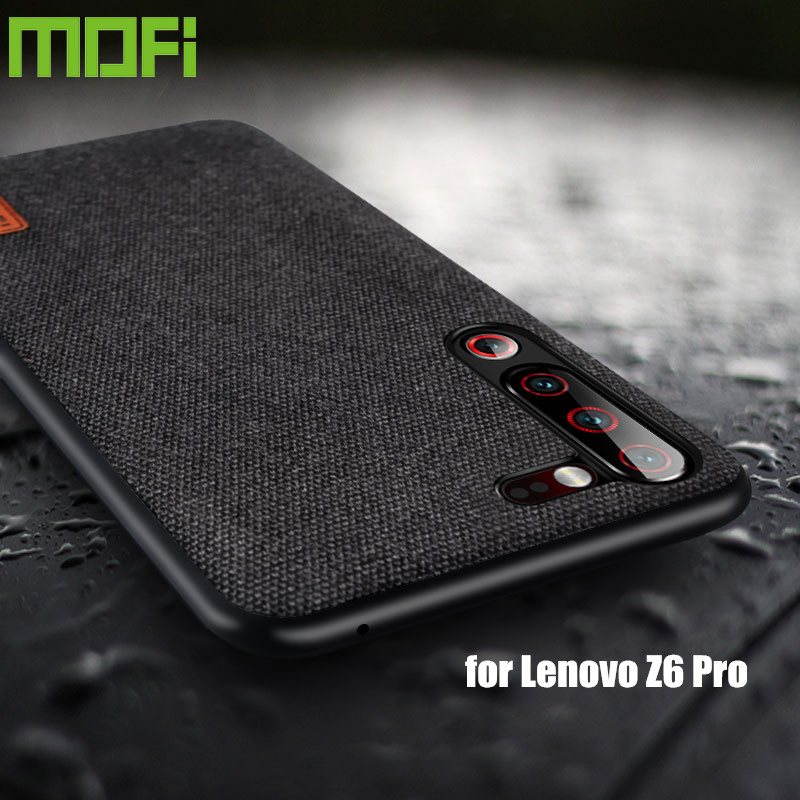 for Lenovo Z6 Pro case cover shockproof silicone fabric cloth back cover capas MOFi original global Z6 Lite protect case