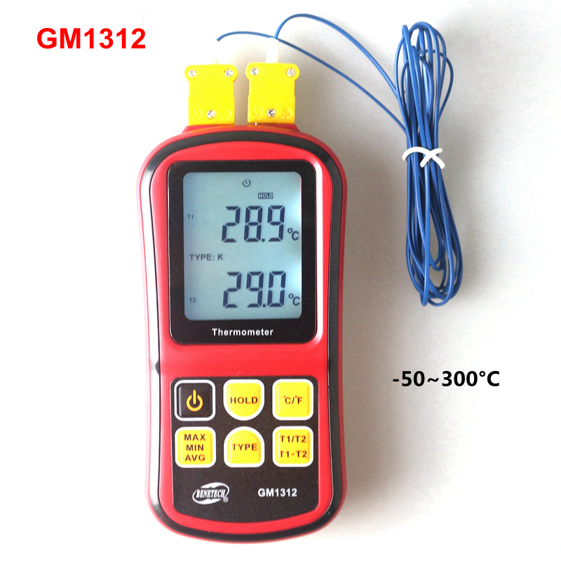 GM1312 Digital K Type Thermocouple Temperature Meter Monitor -50~300 C Thermometer Termometro thermostat car thermometer digital thermometer humidity u0026 temperature meter gm1361 can be accessed by k type thermocouple