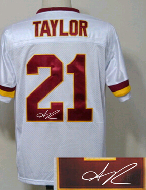 e779a6db2 Framed Jersey Cheap Vintage White Red Mens Autograph Rugby Jersey 21 Sean  Taylor ,SignatureSigned American Football Jerseys ...