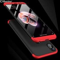 Zubehör Telefon Fall Für Xiaomi Redmi Hinweis 5 Fall 3 In 1 Fundas Harte PC 360 Volle Couqe Capa Redmi hinweis 5 6 10 Pro Redmi Hinweis 7