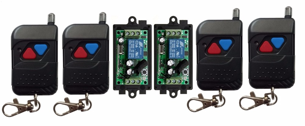 2017 DC 9V 12V 24V 1 CH 1CH RF Wireless Remote Control Switch System,315 MHZ 4pcs (Back) Transmitter + 2pcs Receivers,Latched 2 receivers 60 buzzers wireless restaurant buzzer caller table call calling button waiter pager system