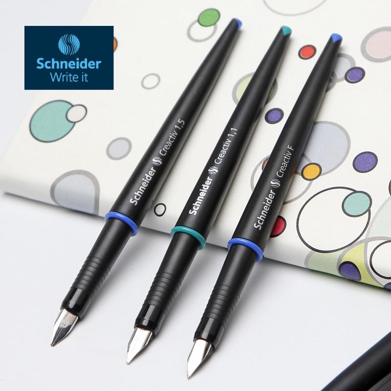 High Guality German Schneider Art Pen Genuine Font Pen Sketch Pen Creactive Signature Fountain Pen 0.5mm/1.1mm/1.5mm Gift Set italic nib art fountain pen arabic calligraphy black pen line width 1 1mm to 3 0mm