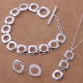 AS039 Trendy wholesale silver Jewelry Sets Earring 239 + Necklace 239 + Bracelet 163 /aenaivua bfkajwra