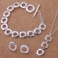 As039 prata moda jóias define brinco 239 + colar 239 + pulseira 163 / aenaivua bfkajwra