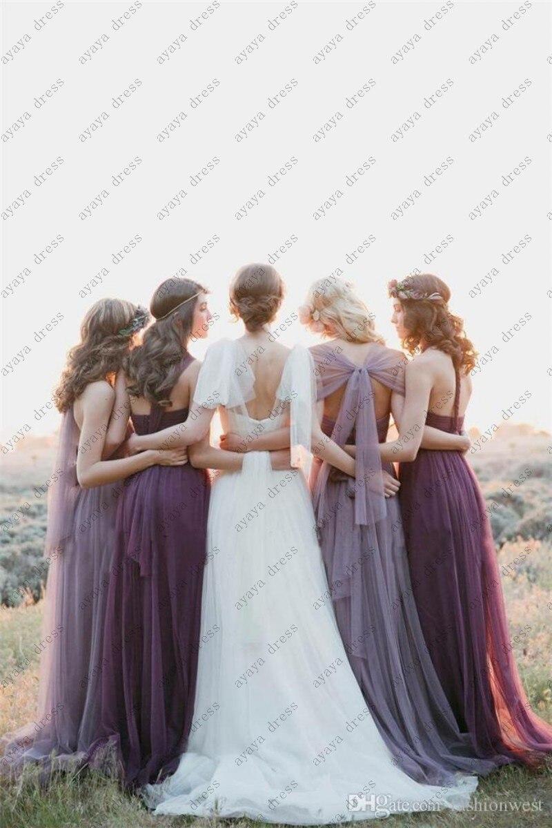 d07b54aa3dd25 wejanedress customize robe de demoiselle d'honneur 2017 customize coral bridesmaid  dresses blue ombre dress-in Bridesmaid Dresses from Weddings & Events on ...