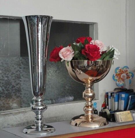 53cm 21 Wholesale Wedding Party Supplies Silver Trumpet Wedding