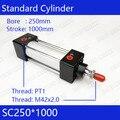 SC250 * 1000 250 мм диаметр 1000 мм ход SC250X1000 SC серии одноштока Стандартный Пневматический воздушный цилиндр SC250-1000