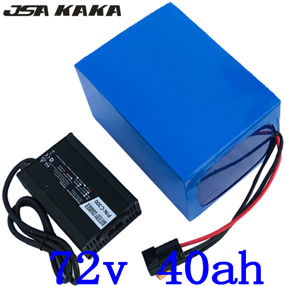 72V battery 72V 40AH Lithium ion ebike battery 72V 2000W 3000W 4000W Battery 72V 40AH Scooter Battery use LG cell with charger image
