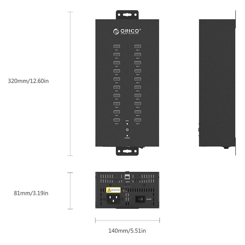 ORICO IH20P USB HUB 20 USB pordid Tööstuslikud USB2.0 HUB USB - Arvuti välisseadmed - Foto 6