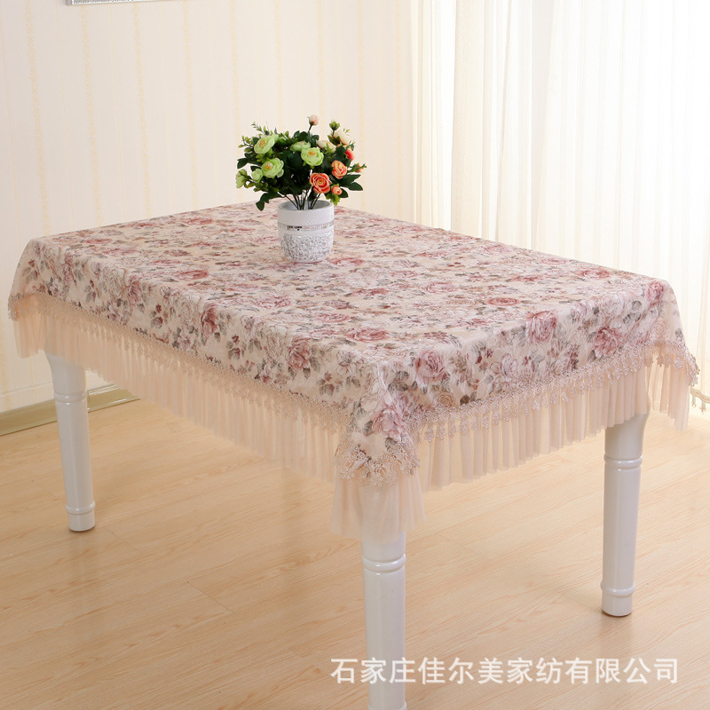 Garden table cloth Lace tablecloth Stamp cushion package Rectangular table cloth Chair cover