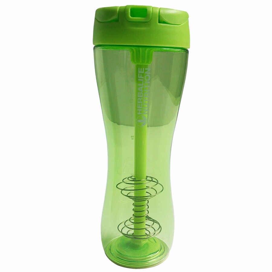 الجملة 500 ملليلتر الأسود الأرجواني هرباليفي التغذية البروتين شاكر التخييم المشي القش شاكر القش زجاجة مياه رياضية زجاجة