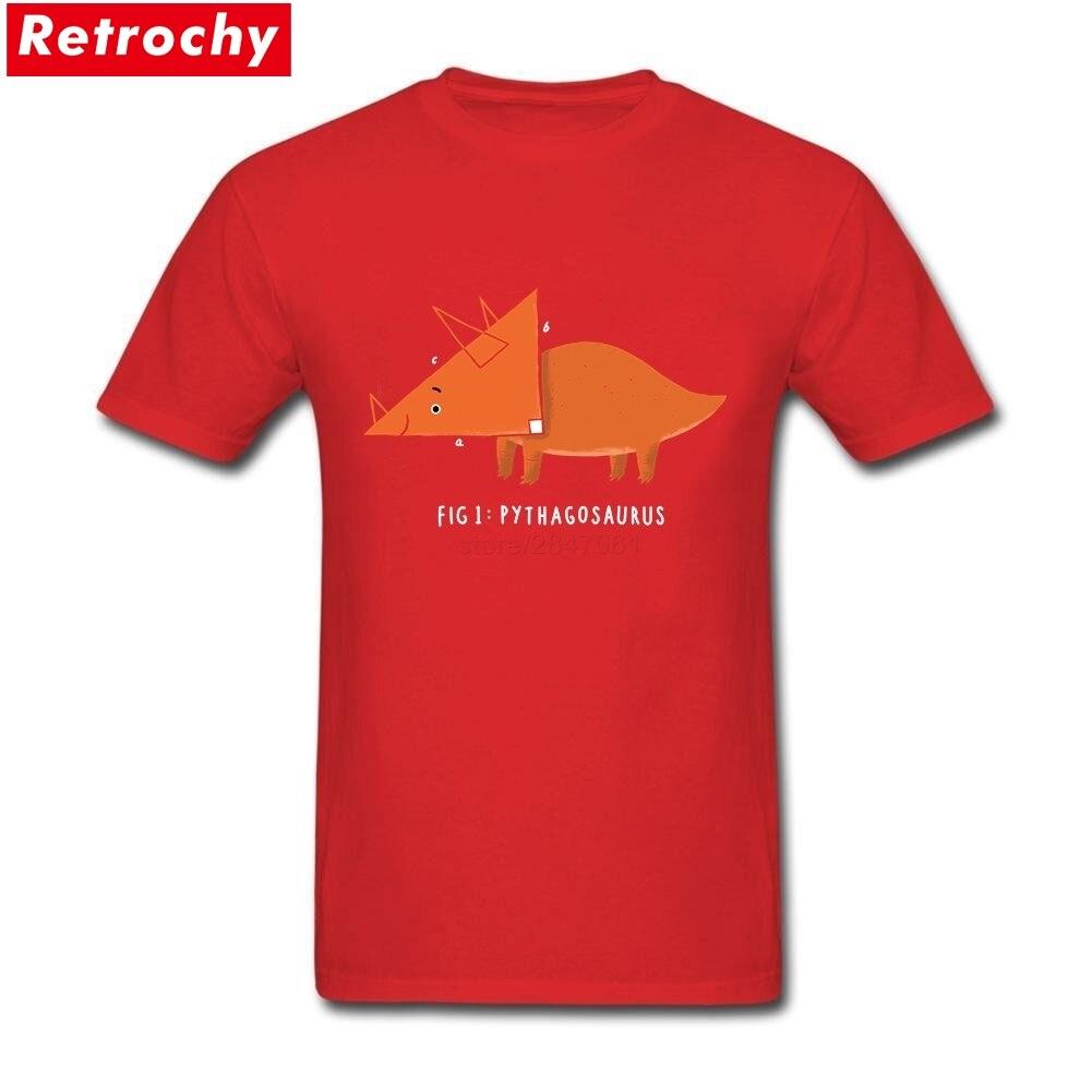 2017 Custom Designer Man The Pythagosaurus Tees Shirt