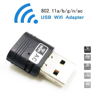 USB Mini Wifi Adapter AC 600Mbps Dual Band 2 4G 5G Wireless Wifi Dongle Network Card