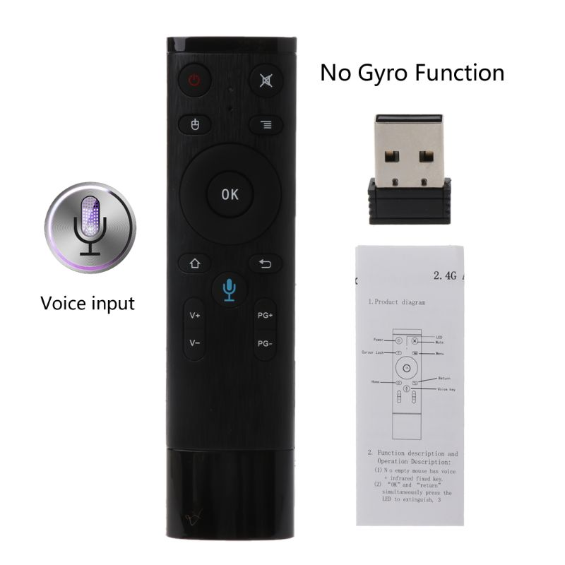 Q5 Voice Control Gyro Air Mouse With Microphone 3 Axis Gyroscope Remote Control For Smart TV Android Box F42D image