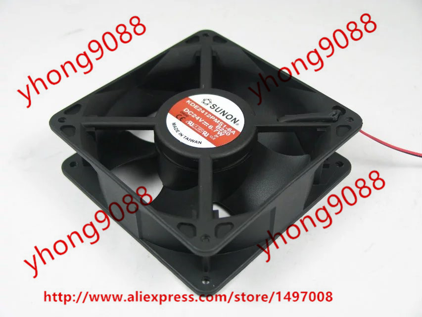 Free Shipping For SUNON KDE2412PMS1-6A DC 24V 6.7W 2-wire 2-pin connector 120x120x38mm Server Square Cooling Fan free shipping for sunon kd1212pmb1 6a dc 12v 6 8w 3 wire 3 pin connector 110mm 120x120x38mm server square fan