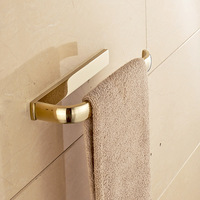 Antique Style Bathroom Brass Towel Shelf Single Towel Bar Rack Hanging Roll Holder 3 Colors Wall