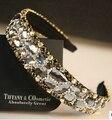 Moda jóia de cristal Cintilante brilho gaze fita de cabelo noiva acessório noiva cabelo strass completo acessório de cabelo feminino