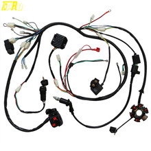 TDPRO Motorcycle Parts Wire Loom Harness Solenoid Magneto Coil Regulator CDI GY6 150cc ATV Quad Engines
