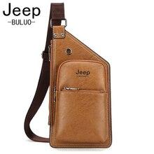 Jeep 2017 New Chest Bag for Men Crossbody Men s Casual Leather Messenger Bag Sling Male