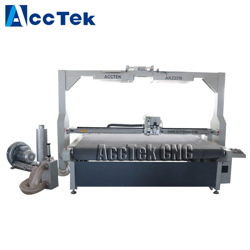 CCD Camera Auto Feeding Oscillating Knife Cutting Machine For KT Plate Foam Leather Fabric Cloth