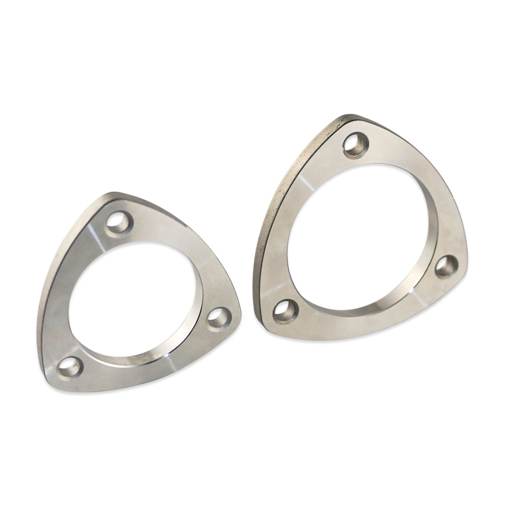 1pcs High Quality Universal 2 2.8 3 Stainless Steel 201 car exhaust triangular flange free shipping