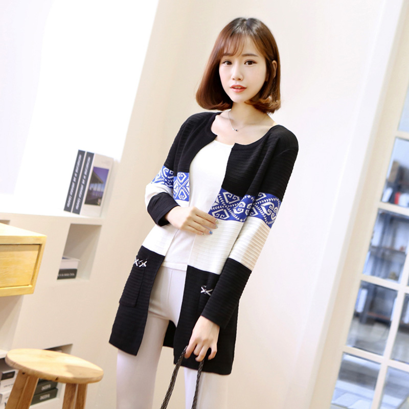 Autumn Winter Cotton Vintage Long Knitting Cardigan Sweater Women 12 Colors Long Sleeve Outerwear Sweaters Cardigan Plus Size