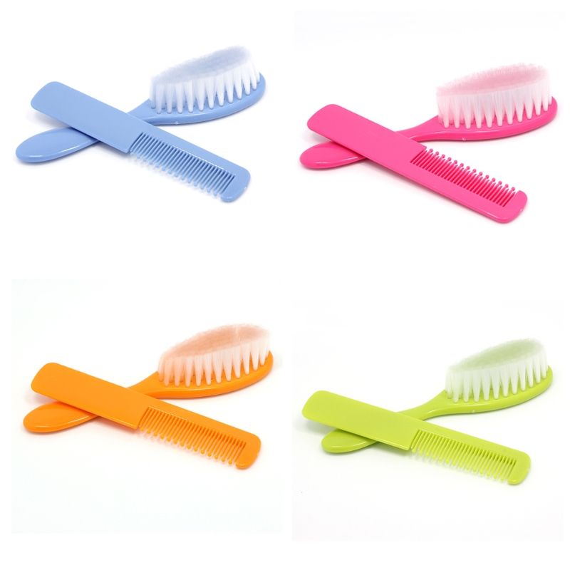 2017 Cute Baby Boy Girl Kids Gentle Soft Hair Brush Comb Set Newborn 2pcs APR11_30 расчески для волос детские happy baby brush comb set 17000 mint