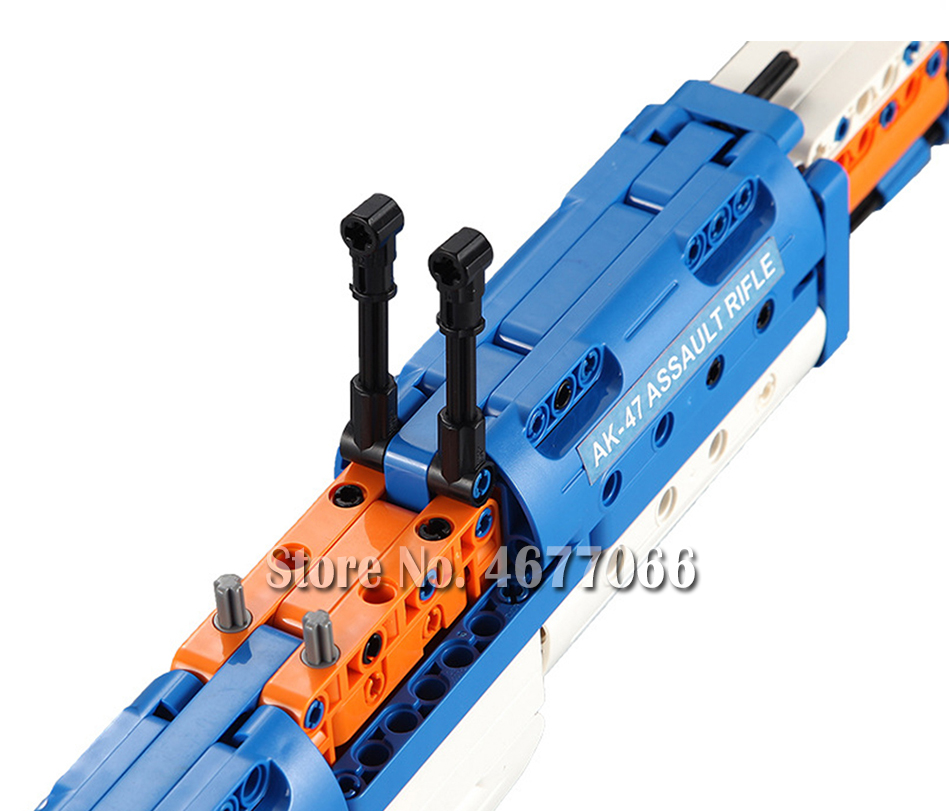 Legoed gun model building blocks p90 toy gun toy brick ak47 toy gun weapon legoed technic bricks lepin gun toys for boy 146