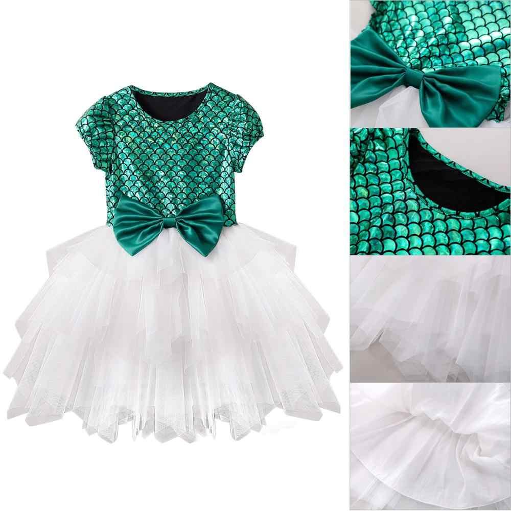 2019 nowe dziewczyny sukienka różowy niebieski zielony dla dzieci sukienki dla dziewczynek sukienka na imprezę sukienka dla druhny z krótkim rękawem Backless suknia balowa ubrania
