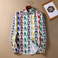 Camisas de los hombres de Otoño de Manga Larga Camisa de Los Hombres de Lujo Ocasionales Florales Camisa de Moda Masculina Camisa Masculina Manga Del Mono 3D Impreso Longa