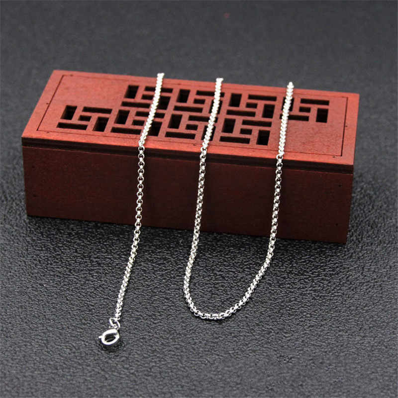 Wholesale Low Price 2.5MM Stainless Steel Chain Necklace Size 45CM/50CM/55CM/60CM Fashion Gift Jewelry Fit Pendant drop shipping
