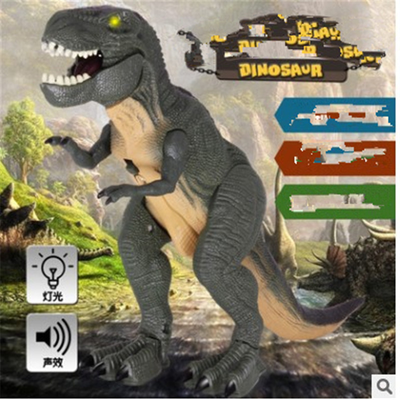 New dinosaur island electric dinosaur tyrannosaurus rex action model children's toy Christmas present big one simulation animal toy model dinosaur tyrannosaurus rex model scene