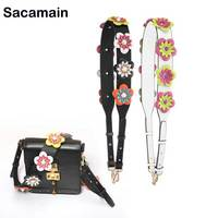 Sac Bandouliere femme bts Acessorios Personality Flower Rivet Handbags Straps Women Bags Belts Women Bag Accessories Bag Strap