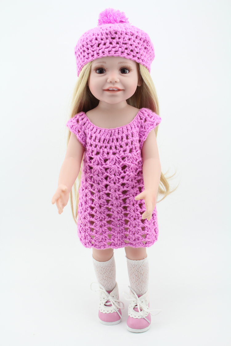 Cuddly 18inch Vinyl Dolls Very Real Toddler Baby Doll Toys For