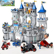 King's Castle Set Kingdom Lion Knight War Chariot Minifigure Toys Building Blocks Compatible With Lego